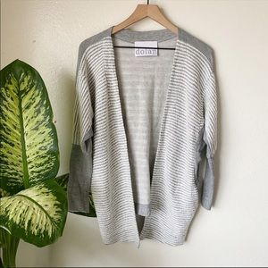 Anthropologie | Dolman Sleeve Striped Cardigan